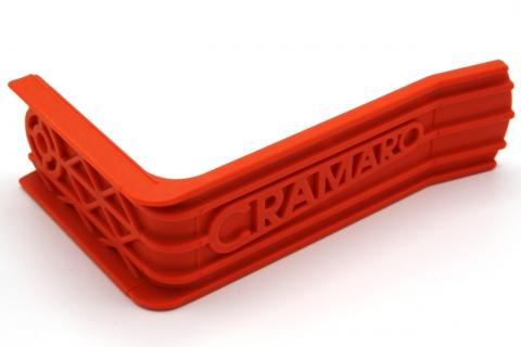 Planenniederhalter (orange) außen bei Mod.C